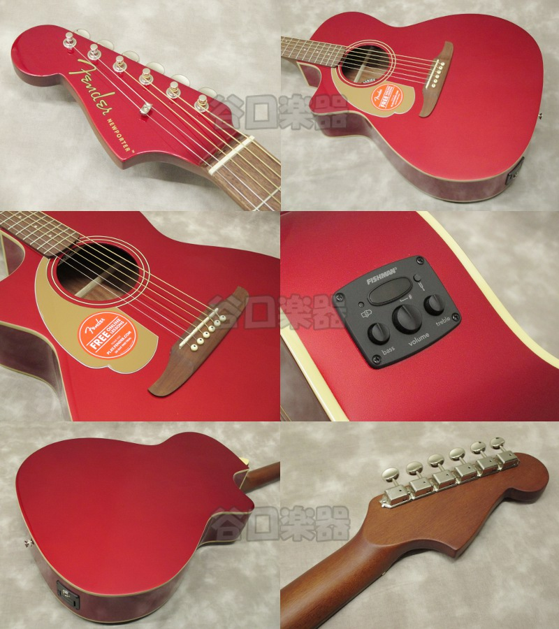 Fender Newporter Player LH (Candy Apple Red)
